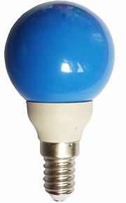 0.5W E14 LED-globepærer G45 7 lysdioder DIP LED Blå 15-25lm 300000K Vekselstrøm100-240V