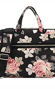 13,3 14,1 15,6 Zoll Rose Muster Laptop Schultertasche mit Gurt Handtasche für Oberfläche / Dell / PS / Samsung / Sony etc