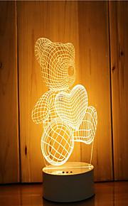 1 סט של 3D מצב הרוח לילה יד קלה מרגיש dimmable USB מופעל מתנה מנורת המנורה