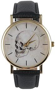 Homens Mulheres Relógio de Moda Relógio de Pulso Japanês Quartzo Relógio Casual PU Banda Casual Preta
