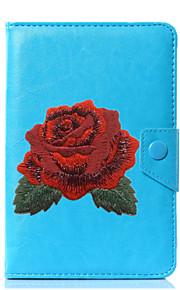caja universal de la cubierta del soporte del cuero de la PU de la flor para 7 pulgadas 8 pulgadas 9 pulgadas tablet pc de 10 pulgadas