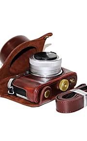 dengpin pu custodia in pelle per fotocamera custodia per panasonic gf9 gf8 gf7 12-32mm lens (colori assortiti)