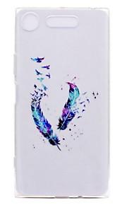 케이스 커버 Sony 용 Xperia XZ1 Xperia XZ1 Compact 뒷면 커버 투명 패턴 깃털 소프트 TPU Xperia XZ1 Compact Sony Xperia XZ1 Sony Xperia XZ Sony Xperia XA1
