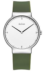 Homens Relógio Casual Relógio de Moda Japanês Quartzo Relógio Casual Borracha Banda Casual Preta Azul Verde