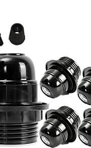 czarny styl 5 szt. e26 e27 gniazdo śrubowe żarówki edison retro lampa wisząca uchwyt podłubać
