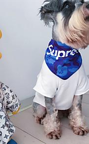 犬 犬用スカーフ 犬用ウェア カジュアル/普段着 幾何学模様 ホワイト ブラック レッド ブルー ストライプ コスチューム ペット用