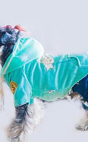 犬 パーカー ジャンプスーツ 犬用ウェア スタイリッシュ カジュアル/普段着 保温 文字&番号 ブラック グリーン ピンク コスチューム ペット用
