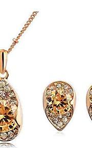 Dame Stangøreringe Halskædevedhæng Kvadratisk Zirconium Syntetisk Diamant Klassisk Mode Forlovelse Ceremoni Zirkonium Simuleret diamant