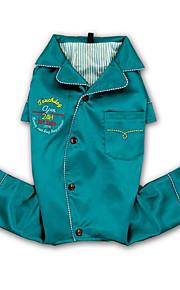 犬 ジャンプスーツ 犬用ウェア レジャー 純色 文字&番号 レッド グリーン ブルー コスチューム ペット用