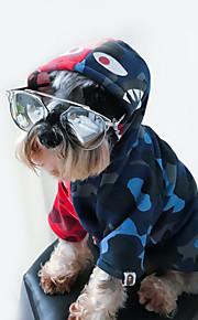 犬 パーカー 犬用ウェア スタイリッシュ スポーツウェア ヒップホップ プリント 迷彩色 コスチューム ペット用