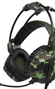 sa-931 sopra la fascia dell'orecchio cuffie cablate auricolari da gioco in plastica isolanti con microfono con controllo del volume