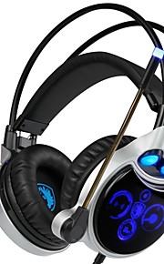 SADES R8 머리띠 유선 헤드폰 동적 플라스틱 게임 이어폰 마이크 포함 헤드폰