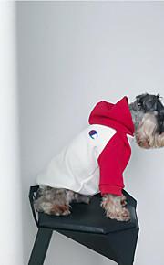 犬 スウェットシャツ パーカー 犬用ウェア カジュアル/普段着 保温 カジュアル/スポーティ カラーブロック ブラック レッド コスチューム ペット用