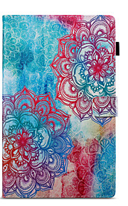 Case For Amazon Wallet with Stand Flip Pattern Auto Sleep/Wake Up Full Body Mandala Hard PU Leather for Kindle Fire hd 10(7th Generation,
