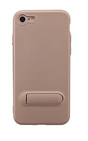 hoesje Voor Apple iPhone 6 iPhone 6 Plus iPhone 7 met standaard Achterkant Effen Kleur Zacht TPU voor iPhone 7 iPhone 6 Plus iPhone 6