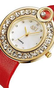 ASJ Mulheres Relógio de Moda Relógio Casual Japanês Quartzo Relógio Casual PU Banda Minimalista Fashion Preta Vermelho