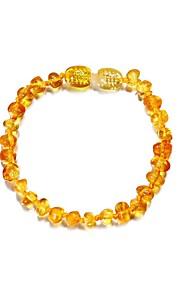 Męskie Damskie Bransoletki Strand Bursztynowy Ametyst Na co dzień Agat Circle Shape Biżuteria Codzienny Wyjściowe Biżuteria kostiumowa