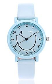 Mulheres Relógio Elegante Relógio de Moda Relógio Casual Chinês Quartzo Relógio Casual PU Banda Casual Fashion Preta Branco Verde Cinza