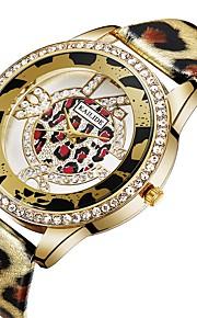 ASJ Mulheres Relógio de Moda Relógio Casual Chinês Quartzo imitação de diamante PU Banda Casual Fashion Prata Dourada