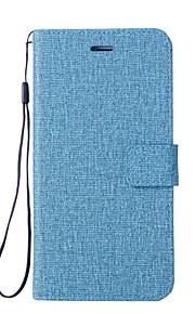 Custodia Per Xiaomi Mi 6 Mi 5X Porta-carte di credito A portafoglio Con supporto Con chiusura magnetica Integrale Tinta unica Resistente