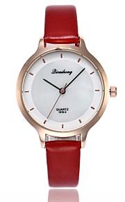 Mulheres Relógio Elegante Relógio de Moda Relógio Casual Chinês Quartzo Relógio Casual PU Banda Casual Fashion Preta Branco Azul Vermelho