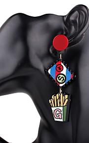 Damskie Kolczyki wiszące Rhinestone Urocza Niedopasowanie Żywica Koks Biżuteria Wyjściowe Ulica Biżuteria kostiumowa