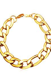 Herre Dame Kæde & Lænkearmbånd Basale Mode Rustfrit Stål Guld Sort Sølv Smykker Daglig Kostume smykker