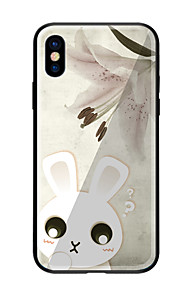 Case For Apple iPhone X iPhone 8 Pattern Back Cover Animal Hard Tempered Glass for iPhone X iPhone 8 Plus iPhone 8 iPhone 7 iPhone 6s