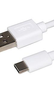 Typ-C USB-Kabeladapter Schnelle Aufladung Kabel Für Samsung Huawei LG Lenovo Xiaomi HTC 100cm TPE