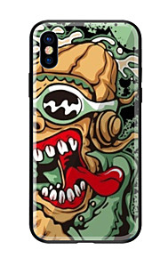 Case For Apple iPhone X iPhone 8 Pattern Back Cover Cartoon Hard Tempered Glass for iPhone X iPhone 8 Plus iPhone 8 iPhone 7 iPhone 6s