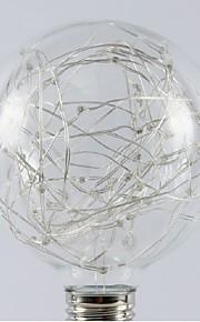 1pç 1W - lm E26/E27 Lâmpada Redonda LED 20pcs Contas LED SMD Estrelado Branco Quente RGB 200-240V