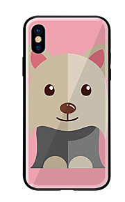 Case For Apple iPhone X iPhone 8 Pattern Back Cover Dog Hard Tempered Glass for iPhone X iPhone 8 Plus iPhone 8 iPhone 7 iPhone 6s Plus