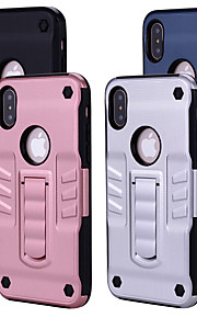 Case For Apple iPhone X Shockproof with Stand Back Cover Solid Colored Hard PC for iPhone X