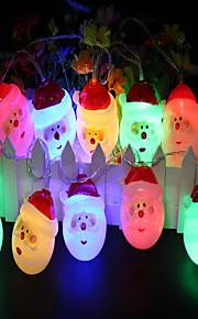1.5m Cordões de Luzes 10 LEDs Muitas cores Decorativa Baterias AA alimentadas 1pç