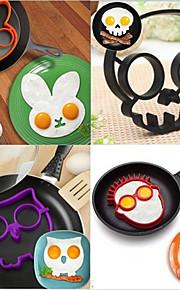 Köksredskap Silikon Gummi Kreativ Bakning Verktyg Egg Stekpannor & Skillets 5pcs