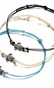 Dame Charm-armbånd Simple Etnisk Fiber Legering Hvid Sort Blå Turtle Smykker Daglig Gade Kostume smykker