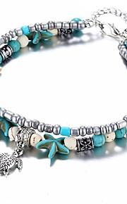 Dame Strand Armbånd Afslappet Etnisk Sten Lyseblå Søstjerne Turtle Smykker Gave Daglig Kostume smykker