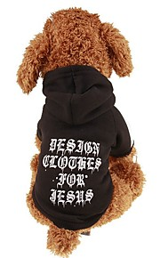 Dogs / Cats / Pets Sweatshirt / Hoodie Dog Clothes Simple / Letter & Number / Classic Black Plush Fabric / Cotton Costume For Pets Female