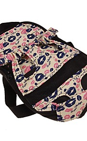 Dogs / Cats / Pets Carrier & Travel Backpack Pet Carrier Camping & Hiking / Portable / Breathable Color Block / Patchwork Pink