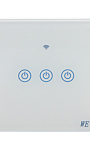 Weto w-t13 eu / us / cn 3 gang wifi inteligentny przełącznik ścienny przełącznik dotykowy czujnik inteligentny pilot domu działa z alexa google domu za pośrednictwem smartf ...