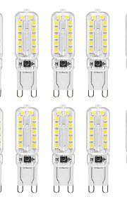 YWXLIGHT® 10 stuks 6 W 400-600 lm G9 2-pins LED-lampen T 24 LED-kralen SMD 2835 Dimbaar Warm wit / Koel wit / Natuurlijk wit 220-240 V