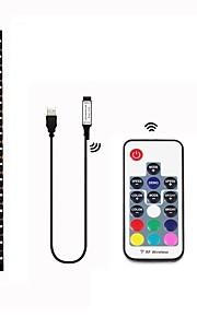 1m Set luci 30 LED SMD5050 Telecomando a 17 tasti Colori primari Impermeabile / Accorciabile / Feste 5 V 1 set