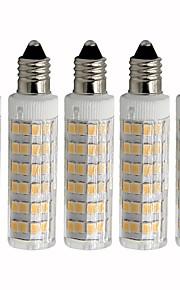 5 pezzi 4.5 W 450 lm E11 LED a pannocchia T 76 Perline LED SMD 2835 Oscurabile Bianco caldo / Luce fredda 220 V