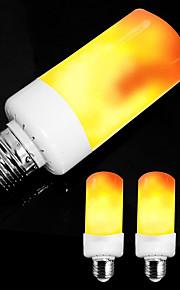 ZDM® 4pcs 5 W 300 lm E14 / E26 / E27 Lampadine globo LED / Luci LED a candela 99 Perline LED SMD 2835 Feste / Decorativo / Decorazione di nozze di Natale Ambra 85-265 V