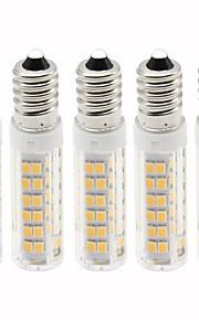 5 pezzi 4.5 W 450 lm E14 LED a pannocchia T 76 Perline LED SMD 2835 Oscurabile Bianco caldo / Luce fredda 220 V