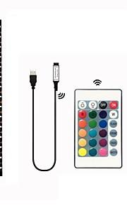 1M مجموعات ضوء 30 المصابيح SMD5050 1 24 مفاتيح تحكم عن RGB ضد الماء / قابل للقص / ديكور 5 V 1SET