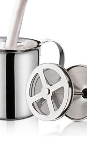 Διπλό πλέγμα γαλακτοκίτρινο κρέμα γάλακτος από ανοξείδωτο χάλυβα αφρός γάλακτος για καπουτσίνο γάλα κανάτες αυγό beater κουζίνα εργαλείο gadgets