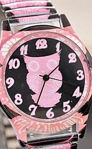 Γυναικεία Χαλαζίας Χαλαζίας Μοτίβο Άνιμαλ Ανοξείδωτο Ατσάλι Μαύρο / Ροζ Χαριτωμένο Καθημερινό Ρολόι Αναλογικό Μοντέρνα - Μαύρο Ανθισμένο Ροζ Ροδακινί Ενας χρόνος Διάρκεια Ζωής Μπαταρίας