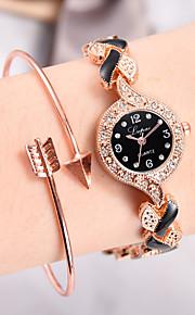 Γυναικεία Χαλαζίας Χαλαζίας Μοντέρνο Στυλ Κομψό Cubic Zirconia Μαύρο / Ασημί / Ροζ Νεό Σχέδιο Καθημερινό Ρολόι απομίμηση διαμαντιών Αναλογικό Μοντέρνα Κομψό -  / Ενας χρόνος
