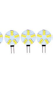3 W LED Φώτα με 2 pin 290 lm G4 15 LED χάντρες SMD 5730 Διακοσμητικό Θερμό Λευκό Ψυχρό Λευκό 12 V, 5pcs